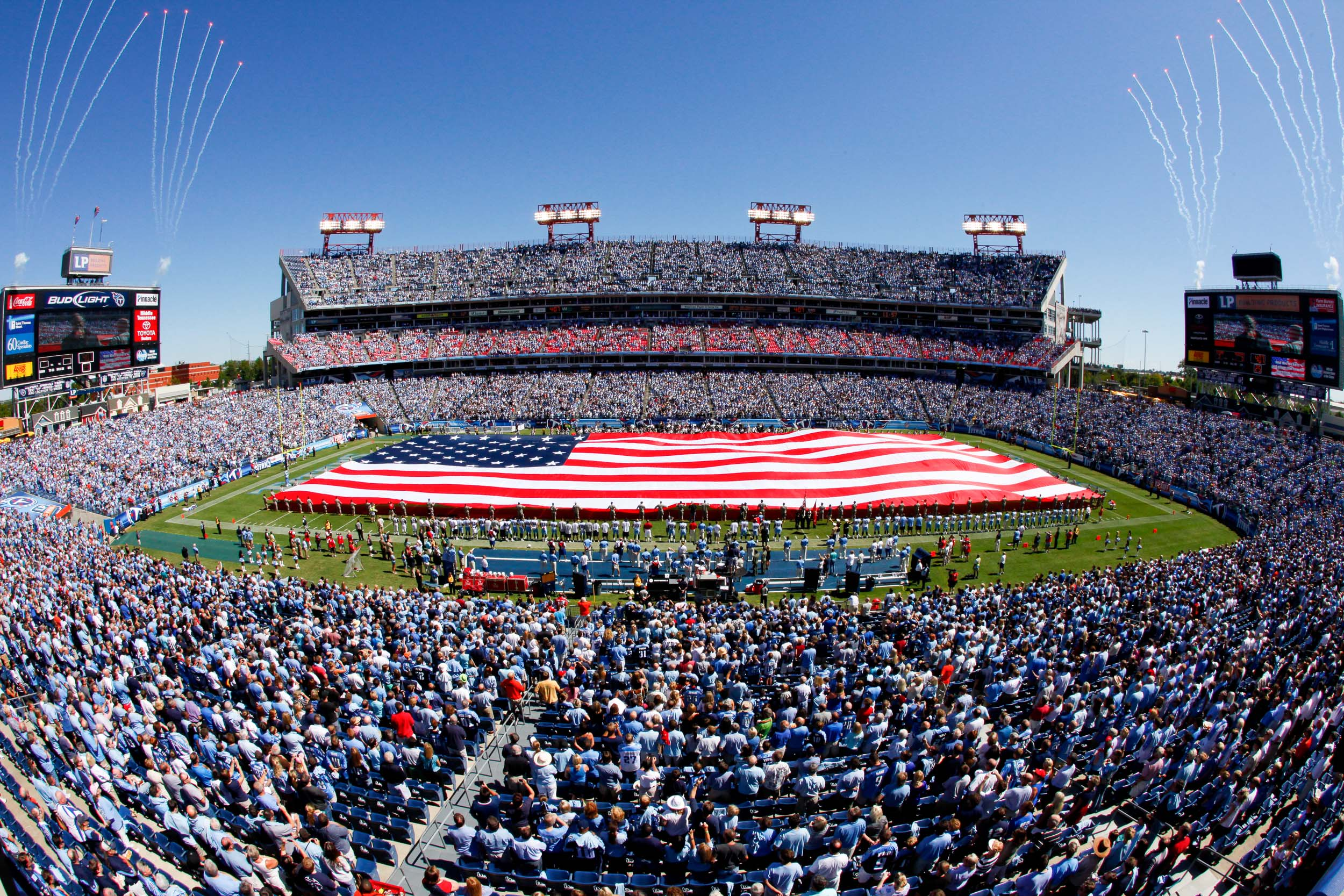 Tennessee Titans American Flag