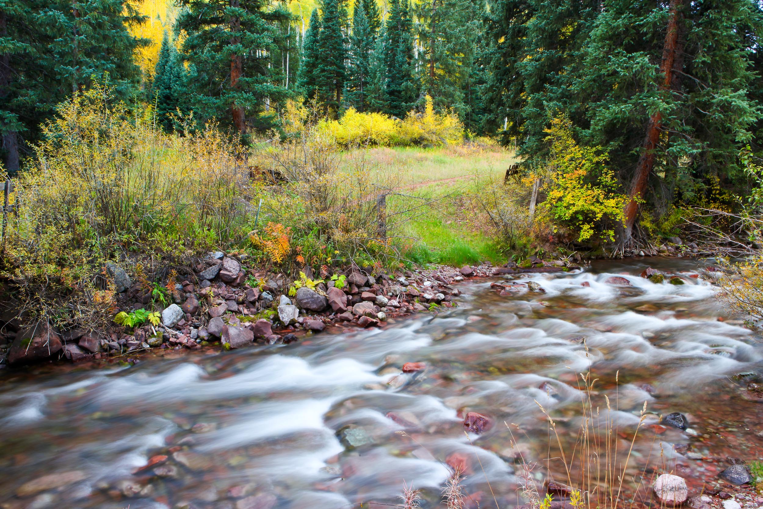 Flowing water Colorado